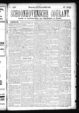 Schoonhovensche Courant 1920-11-22
