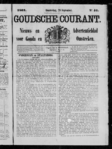 Goudsche Courant 1862-09-25