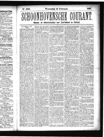 Schoonhovensche Courant 1897-02-24
