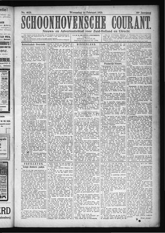 Schoonhovensche Courant 1923-02-14