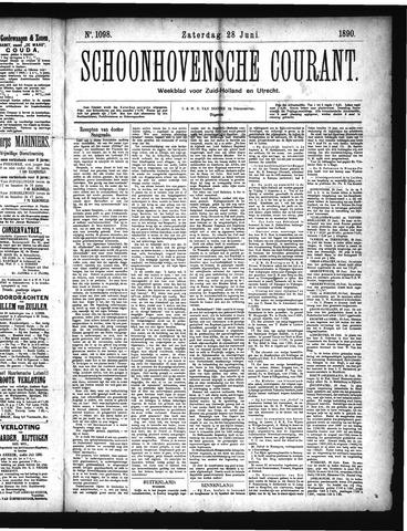 Schoonhovensche Courant 1890-06-28