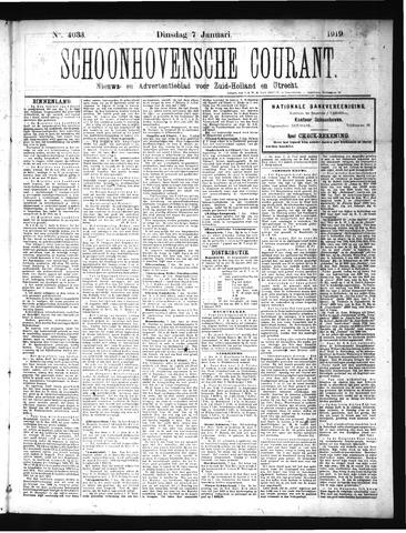 Schoonhovensche Courant 1919-01-07