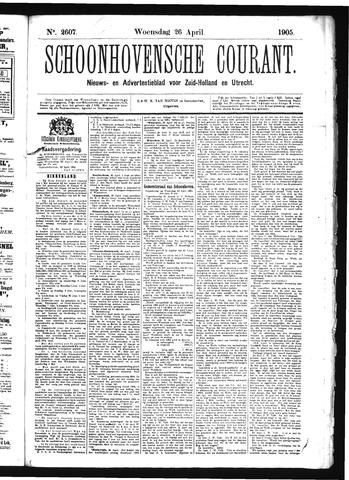 Schoonhovensche Courant 1905-04-26