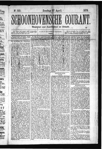Schoonhovensche Courant 1879-04-27