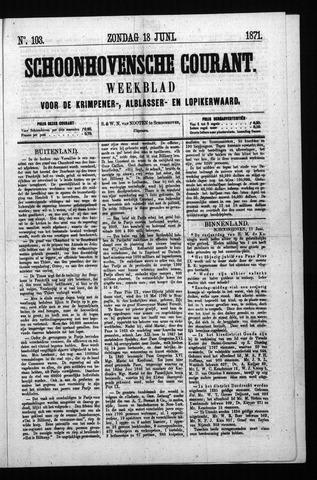 Schoonhovensche Courant 1871-06-18