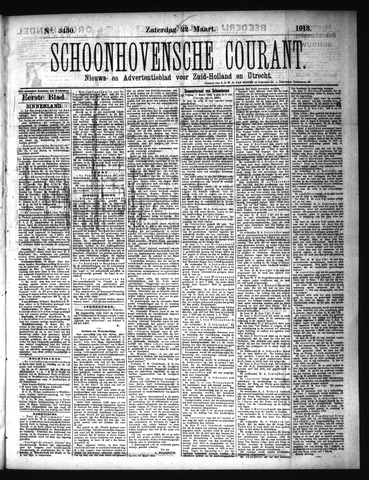 Schoonhovensche Courant 1913-03-22