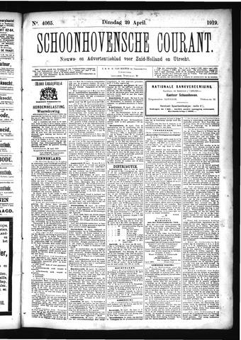 Schoonhovensche Courant 1919-04-29
