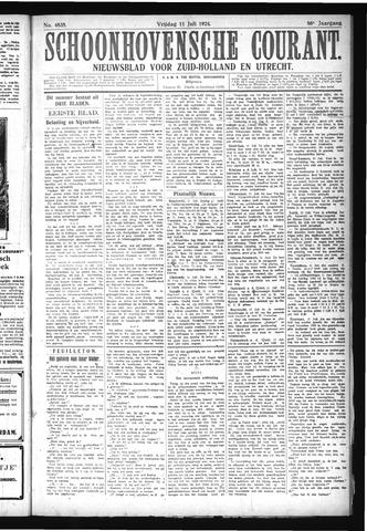 Schoonhovensche Courant 1924-07-11