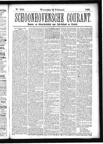 Schoonhovensche Courant 1896-02-26