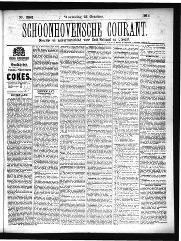 Schoonhovensche Courant 1912-10-23