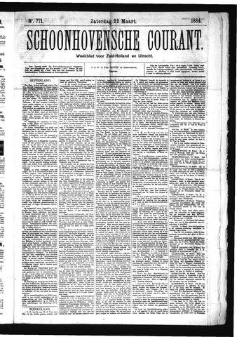 Schoonhovensche Courant 1884-03-22