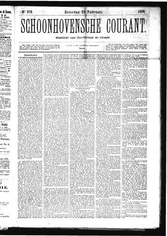 Schoonhovensche Courant 1888-02-25