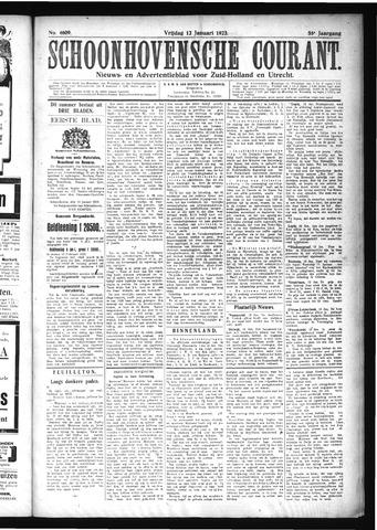Schoonhovensche Courant 1923-01-12