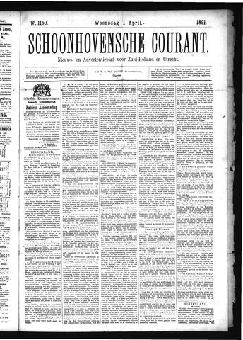 Schoonhovensche Courant 1891-04-01