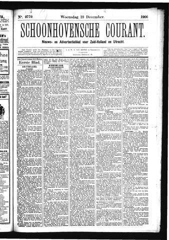 Schoonhovensche Courant 1906-12-19