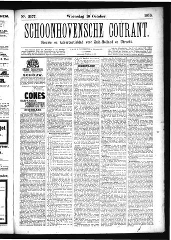 Schoonhovensche Courant 1910-10-19