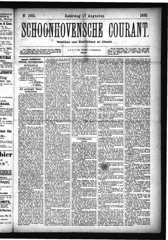 Schoonhovensche Courant 1889-08-17