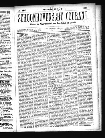Schoonhovensche Courant 1898-04-20