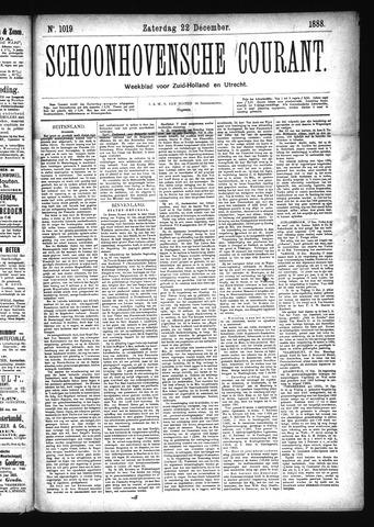 Schoonhovensche Courant 1888-12-22