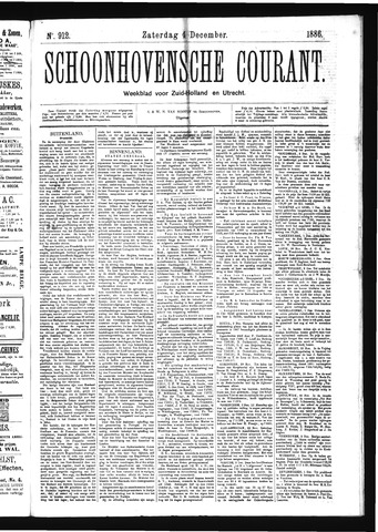 Schoonhovensche Courant 1886-12-04