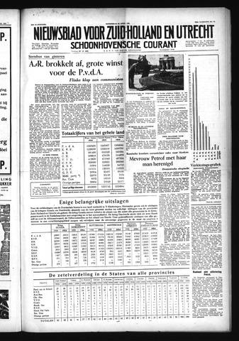 Schoonhovensche Courant 1954-04-22