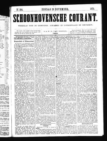 Schoonhovensche Courant 1874-11-29