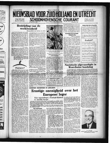 Schoonhovensche Courant 1952-02-22