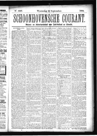 Schoonhovensche Courant 1894-09-12