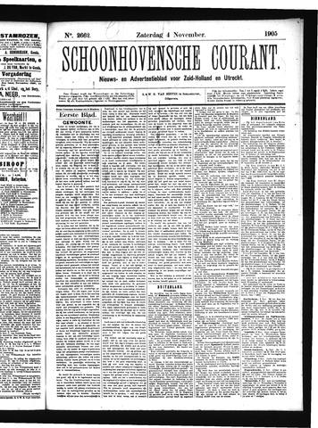 Schoonhovensche Courant 1905-11-04