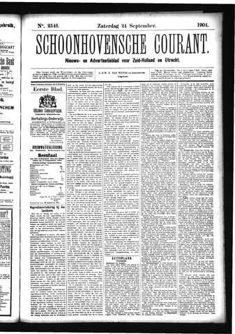 Schoonhovensche Courant 1904-09-24