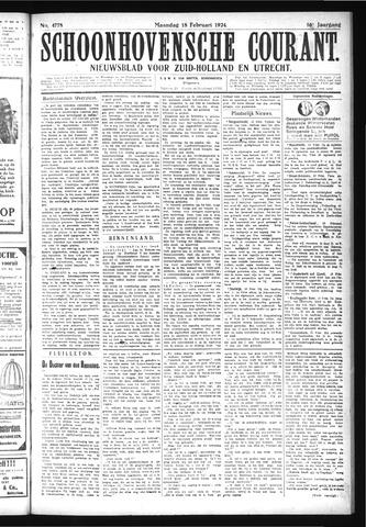 Schoonhovensche Courant 1924-02-18