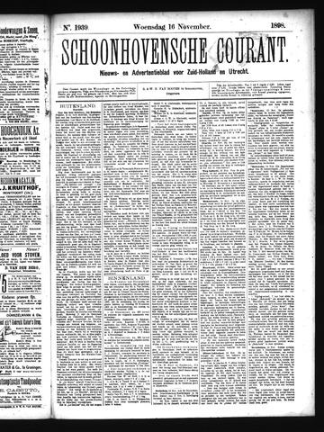 Schoonhovensche Courant 1898-11-16
