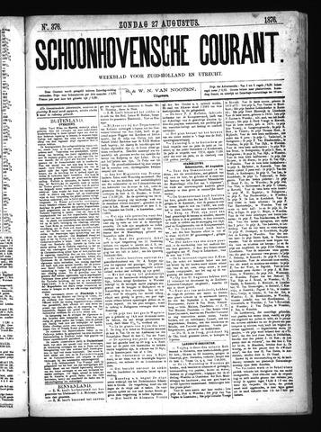 Schoonhovensche Courant 1876-08-27