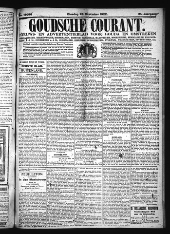 Goudsche Courant 1922-11-28