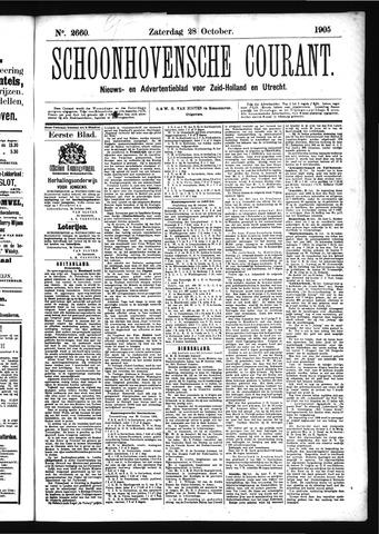 Schoonhovensche Courant 1905-10-28