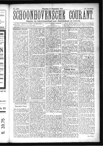 Schoonhovensche Courant 1922-09-18