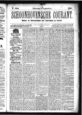 Schoonhovensche Courant 1899-09-09