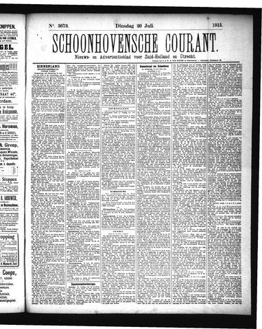 Schoonhovensche Courant 1915-07-20