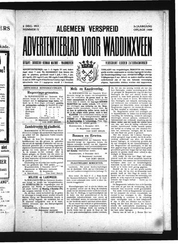 Advertentieblad Waddinxveen 1915-12-04