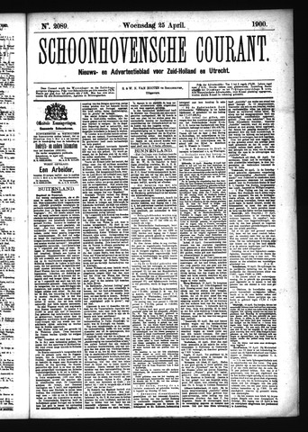 Schoonhovensche Courant 1900-04-25