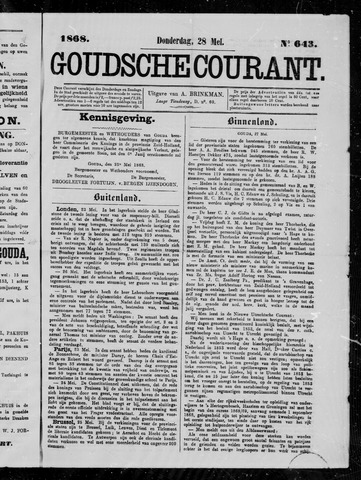 Goudsche Courant 1868-05-28