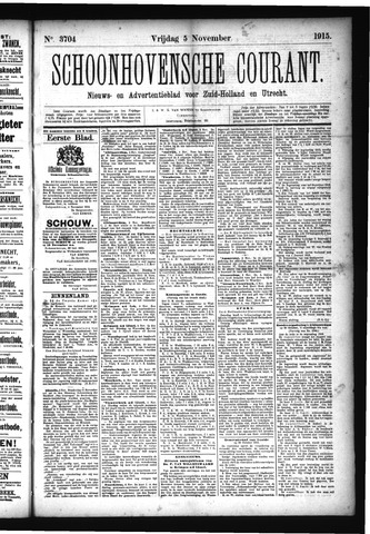 Schoonhovensche Courant 1915-11-05