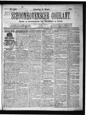 Schoonhovensche Courant 1911-03-25