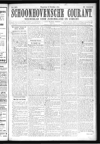 Schoonhovensche Courant 1924-10-13