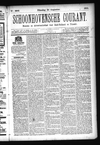 Schoonhovensche Courant 1915-08-24