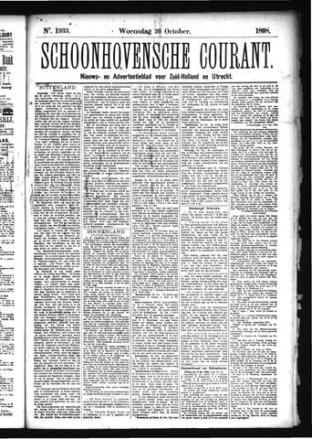 Schoonhovensche Courant 1898-10-26