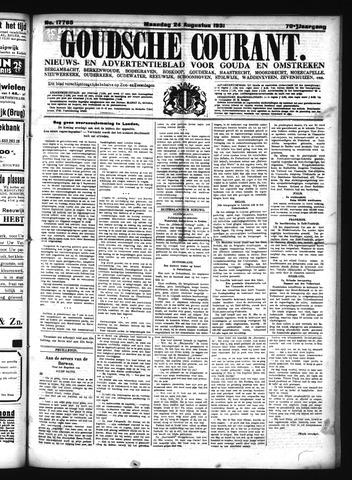 Goudsche Courant 1931-08-24