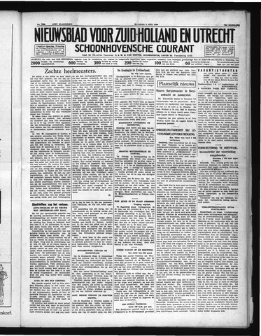Schoonhovensche Courant 1938-07-04