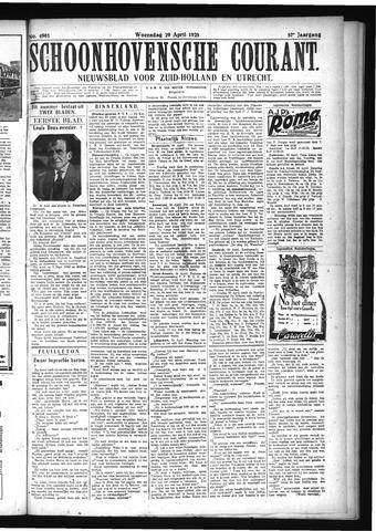 Schoonhovensche Courant 1925-04-29