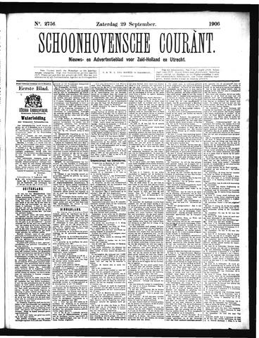 Schoonhovensche Courant 1906-09-29